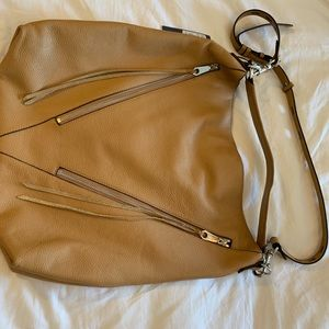 Rebecca Minkoff Moto Hobo in color sand
